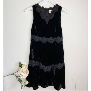 NWT Foxiedox Velvet Dress Lace Inserts Fit & Flare